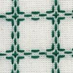 Handwerkstof - beiersbont - wit/groen 1,60 cm breed