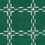 Handwerkstof - beiersbont - groen/wit 1,60 cm breed