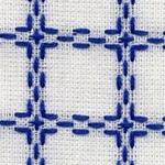 Handwerkstof - beiersbont - wit/blauw 1,60 cm breed