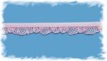 Elastisch kantje - rose 1,25 cm