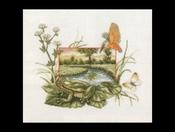 Flora & Fauna - Kikker op waterlelie 39 x 35 cm